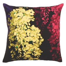 Gold Wisteria Velvet Cushion