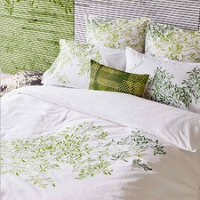 Green Pascale Cotton Percale Quilt Cover Set