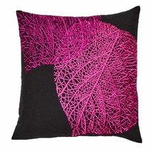 Venation Embroidered Cushion