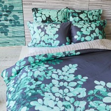 Teal Ashley Cotton Sateen Quilt Cover Set