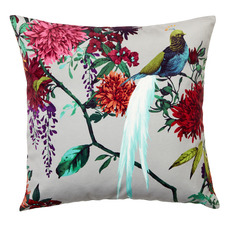 Ivory Chintz Velvet Cushion