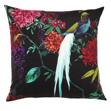 Black Chintz Velvet Cushion