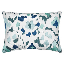 Ikat Embroidered Cotton Cushion