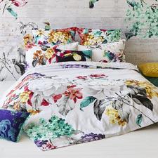 White Eden Cotton Quilt Cover Set