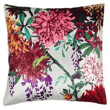 Chintz Garden Square Velvet Cushion