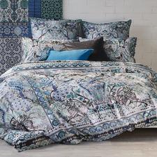 Teal Parisa Cotton Quilt Cover Set