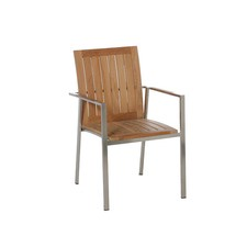 Nusa Dua Teak Outdoor Stacking Armchairs (Set of 2)