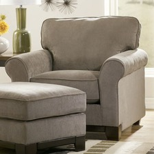 Riley Fabric Arm Chair and Ottoman