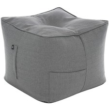 Grey Bean Bag Pouffe