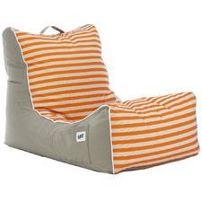 Horizontal Striped Coastal Lounge Beanbag Cover