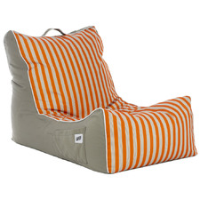 Vertical Striped Coastal Lounge Beanbag Cover
