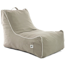 Grey Coastal Lounge Beanbag Cover