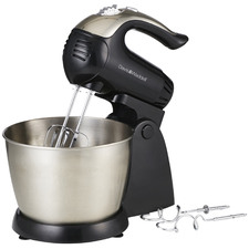Black Electric Hand Mixer with Accessories
