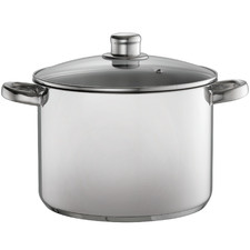 Silver 8L Stainless Steel Stock Pot with Lid