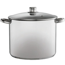 Silver 14L Stainless Steel Stock Pot with Lid