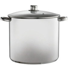 Silver 16.5L Stainless Steel Stock Pot with Lid