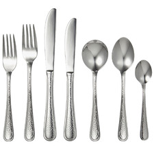 56 Piece Silver Waldorf Stainless Steel Cutlery Set