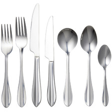 56 Piece Silver Balmoral Stainless Steel Cutlery Set
