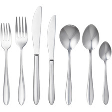 56 Piece Silver Cardinale Stainless Steel Cutlery Set