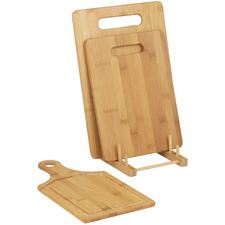 4 Piece Natural Bamboo Cutting Board Set