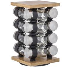 17 Piece Romano Spice Jar & Rack Set