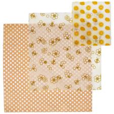 3 Piece Reusable Beeswax Wrap Set