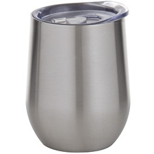 Silver 350ml Double Wall Coffee Cup