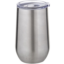 Silver 500ml Double Wall Coffee Cup