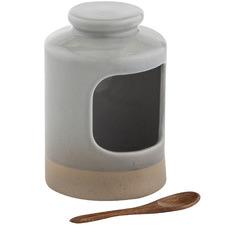 Jenson Stone Salt Pig with Spoon