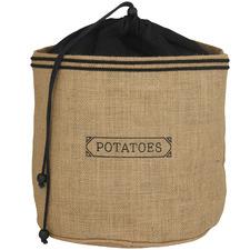 Brown Jute & Cotton Potato Sack
