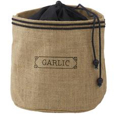 Brown Jute & Cotton Garlic Sack