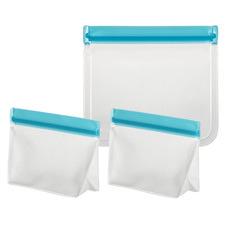 3 Piece Blue Ecopocket Food Pouch Set
