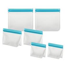 6 Piece Blue Ecopocket Food Pouch Set
