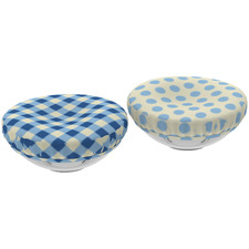 Blue Reversible Cotton Food Cover
