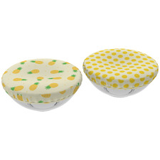 Yellow Reversible Cotton Food Cover