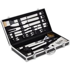 18 Piece BBQ Tools & Aluminium Case Set