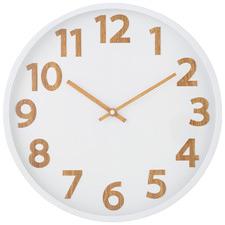 37cm White & Natural Langridge Wall Clock