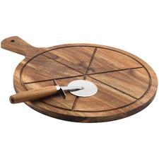2 Piece Flinders Pizza Board & Wheel Cutter Set