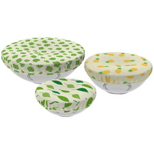 3 Piece Reversible Cotton Food Cover Set