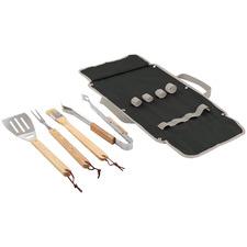 4 Piece Flinders Stainless Steel & Acacia Wood BBQ Tool Set