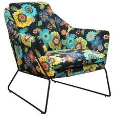 Cube Floral Armchair