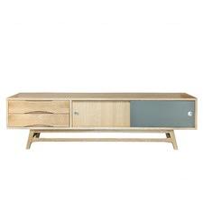 Adjustable Oak TV Cabinet
