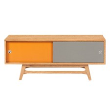 6Ixty TV Unit Orange & Grey