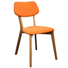 Orange Jelly Bean Chair (Set of 2)