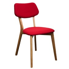 Red Jelly Bean Chair (Set of 2)