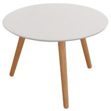 White Kara Round Art Table