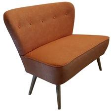 Orange 2 Seater Atom Chair