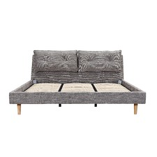 Dark Grey King Size Veronica Bed