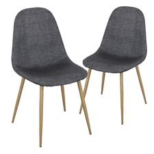Dark Grey Tom Chair (Set of 2)