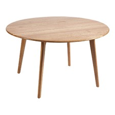 Convair Oak Round Dining Table